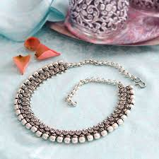 indian metal necklace images Indian metal ethnic necklace indian fashion by pankaj online boutique jpg