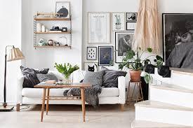 living room inspiration stylish monochrome living room inspiration with greenery and wood