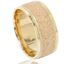 solid gold band buy mens brushed wedding band solid 10k yellow gold matte ring 8mm