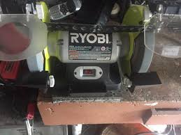 Ryobi Bench Grinder Price Ryobi 8 In Bench Grinder Green Bg828g At The Home Depot Mobile