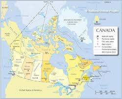 Map Of Canada And Us Map Of Canada The United States And Canada Landforms And