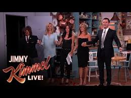 aniston courteney cox kudrow and jimmy kimmel in