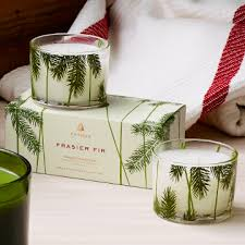 thymes frasier fir candle set fresh scent candle gifts