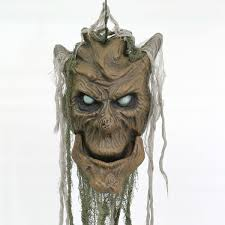 battery animated tree monster door knocker with light and sound