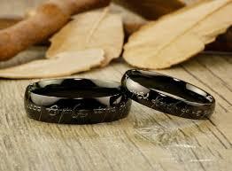 elvish wedding rings custom personalized your words in elvish tengwar lord of the rings