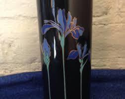 blue iris vase etsy