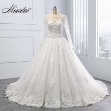 design wedding dress miaoduo 2018 new gown design vestido de noiva lace appliques