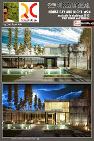 sketchup texture free sketchup model modern house day and night