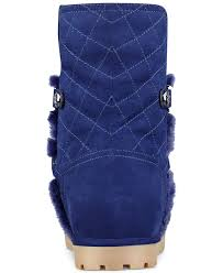 womens boots guess guess s fallon cold weather boots in blue lyst