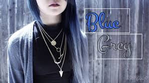 how to color hair extensions blue grey ombre youtube