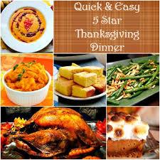easy 5 thanksgiving dinner