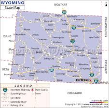 map of wyoming wyoming state map