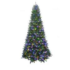 led greater than 9 5 ft pre lit trees artificial