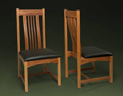 handmade mahogany dining room chair with lumbar support by william