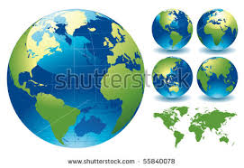 maps for globe world globe maps editable vector illustration stock vector