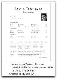 free resume templates velvet singer