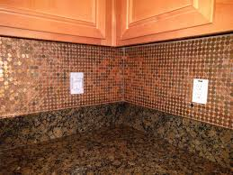 forget him knot penny backsplash diy for the love copper penny backsplash while cleaning had some change the counter top that put against