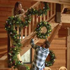 Christmas Railing Decorations Christmas Cone U0026 Berry Decorations Wreaths Garland Swags