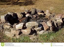Fire Pit Rocks by Rough Rock Diy Fire Pit Stock Photo Image 63414371