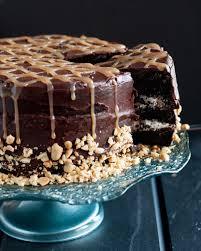 snickers cake recipe cake layers chocolate cake and caramel