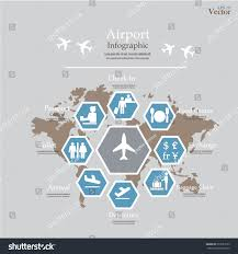 Concept Map Template Airport Business Infographic Presentation Template Concept Stock