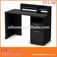 Black Ash Computer Desk Low Price Black Ash Color Modern Melamine Wood Computer Table