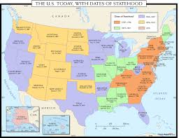Create A Map With Pins Usa Today Map With Dates Of Statehood Maps Com