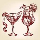 aperitif drinks and cocktails seamless pattern premium clipart