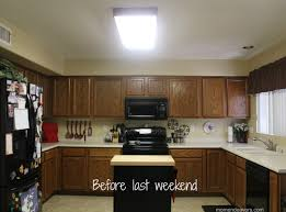 How To Install Kitchen Light Fixture Home Lighting Fluorescent Kitchen Lights Kitchens Replace