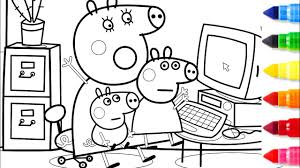 coloring pages peppa the pig peppa pig mummy pig computer coloring pages peppa coloring book