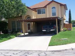 Home Decor San Antonio Attached Two Post Custom Two Car Carport South San Antonio