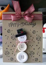 bricolage noel avec rouleau papier toilette carte de voeux pour noël décorée de boutons 28 idées top voeux