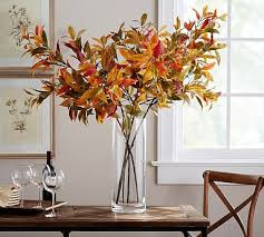 Pottery Barn Fall Decor - turning leaf branch potterybarn decorate your home for fall