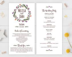 cheap wedding programs programs etsy