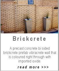 precast walls concrete walls brickcrete fence stonefence