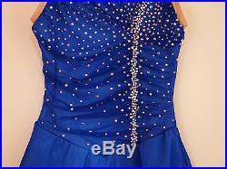 del arbour figure skating competition dress blue with1000