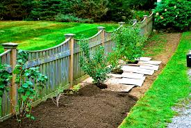 Backyard Landscaping Ideas For Privacy by Patio Knockout Wood Fence Ideas For Backyard Design And Privacy