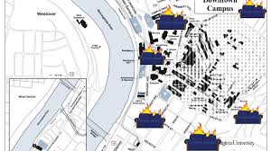 wvu evansdale map a handy map of where to burn your couches when wvu beats loses to lsu