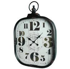 grande horloge murale style ancienne montre a gousset pendule en