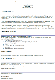 cover letters administrative position best resumes curiculum