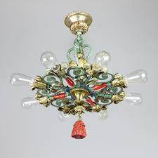 Art Deco Ceiling Fixtures Caldwell Cast Brass Flush Mount Light Fixture Modernism