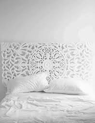 Carved Wooden Headboards White Carved Wall Plaque Set Of 4 Headboard Alternative Hand