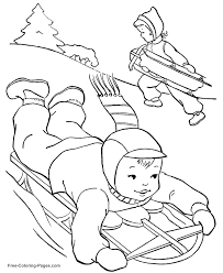 winter coloring pages for kids printable coloring home