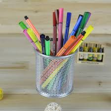 Pen Organizer For Desk Metal Mesh Pencil Holder Stationery Organizer Storage Office Desk