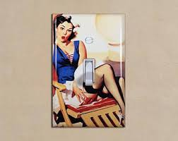 pin up girl home decor pin up switch cover etsy