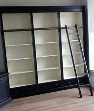 Library Bookcases With Ladder Library Bookcase Ebay