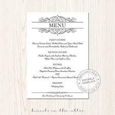 Wedding Menu Template 53 Best Wedding Menu Cards Images On Pinterest Wedding Menu