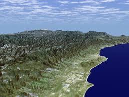 Santa Barbara Map Srtm Perspective View With Landsat Overlay Santa Barbara