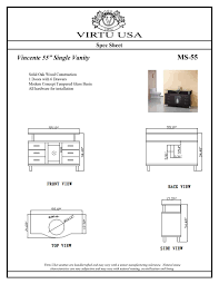 55 virtu vincente ms 55 es bathroom vanity bathroom vanities
