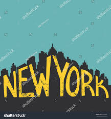 Vintage Home Decor Nyc by New York Vintage Hand Drawn Lettering Stock Vector 275426606